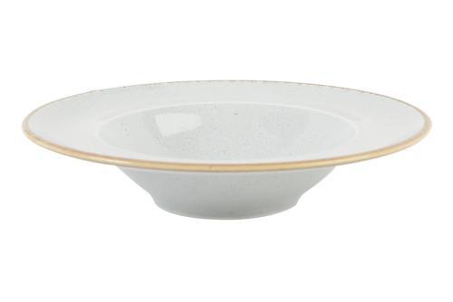Tallrik djup pasta 25 cm ljusgrå