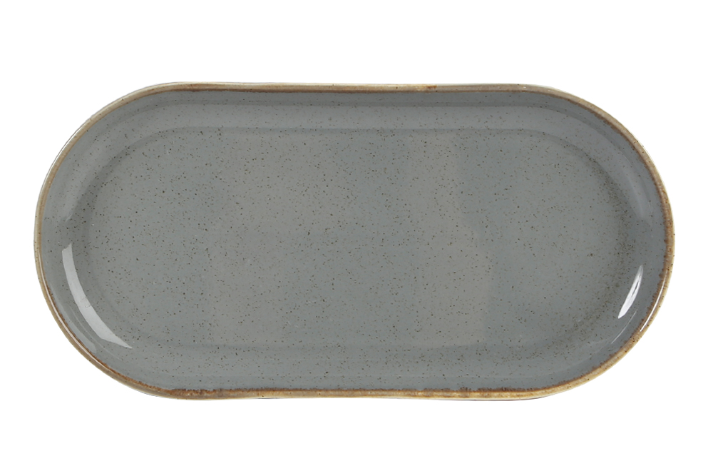 Uppläggningsfat 30 x 15 cm mörkgrå