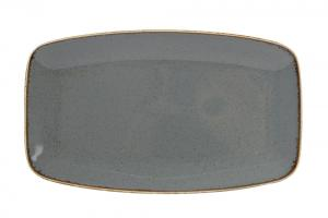 Dark Grey Rectangular Platter 31X18Cm