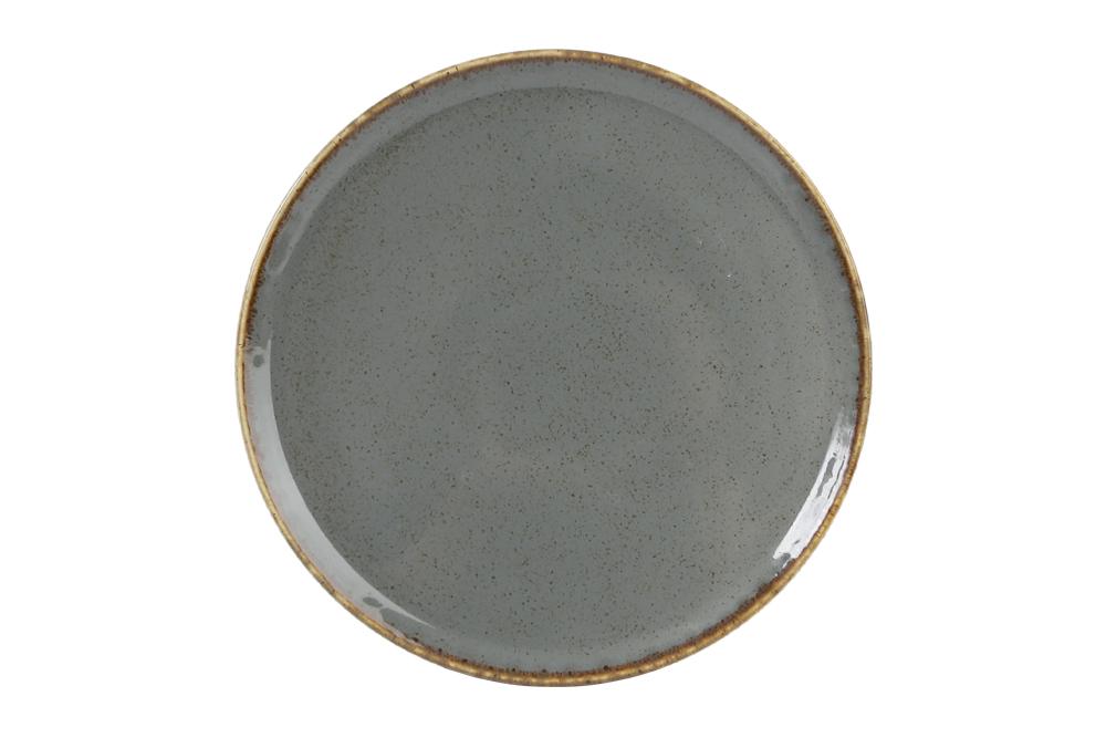Tallrik flat 20 cm mörkgrå