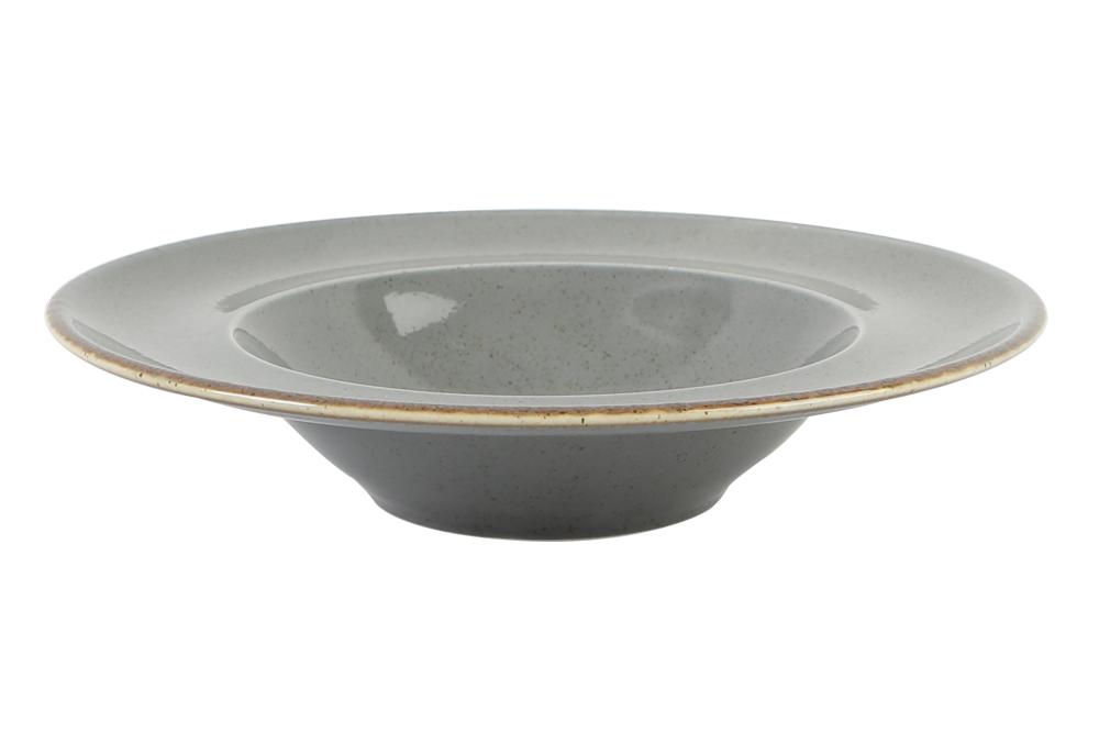 Dark Grey Deep Plate 25Cm