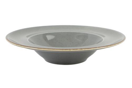 Tallrik djup pasta 25 cm mörkgrå