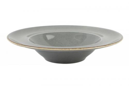 Tallrik djup pasta 31 cm mörkgrå