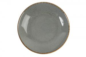 Tallrik coupe 21 cm mörkgrå