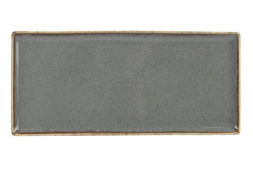 Uppläggningsfat 35 x 15,5 cm mörkgrå