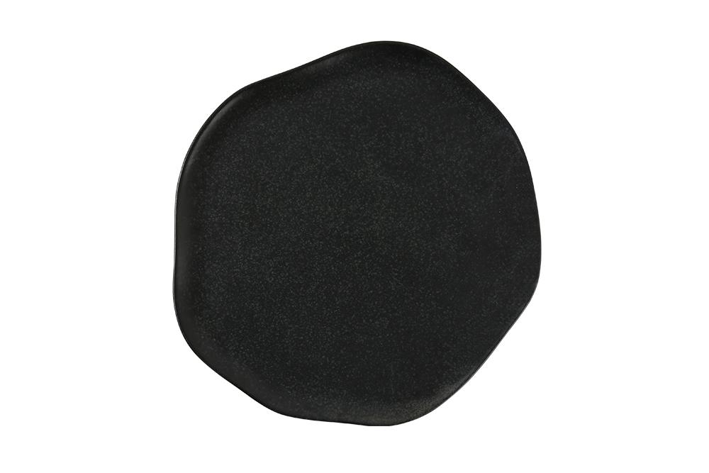 Tallrik flat 27 cm svart