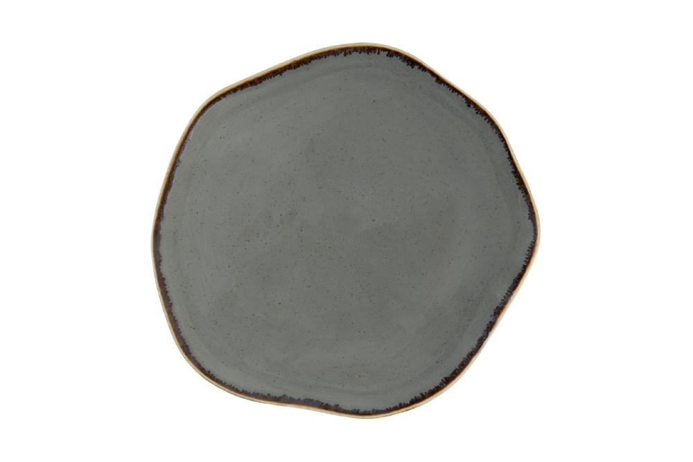 Dark Grey Amorphous Plate 27Cm