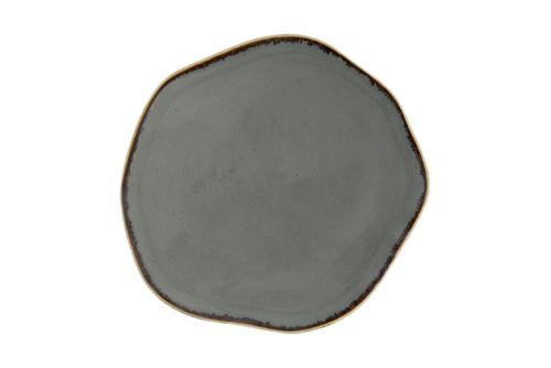 Dark Grey Amorphous Plate 27Cm