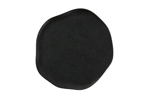 Tallrik flat 21 cm svart