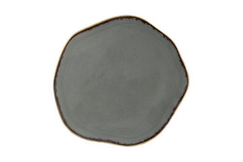 Tallrik flat 21 cm mörkgrå