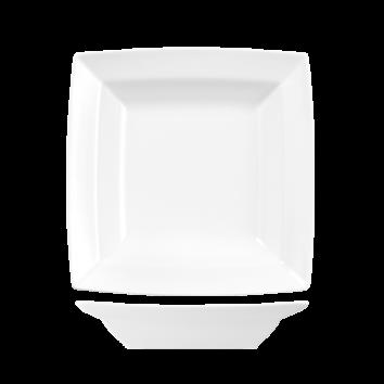 Fyrkantig tallrik djup 25,4 cm vit