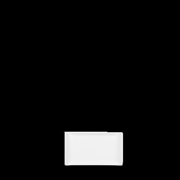 Rektangulär tallrik 17 x 11 cm vit