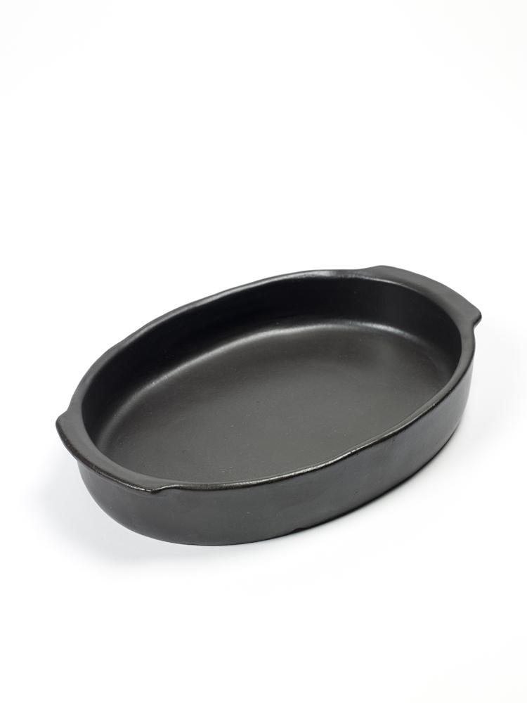 Ugnsfat 30 x 21 cm svart