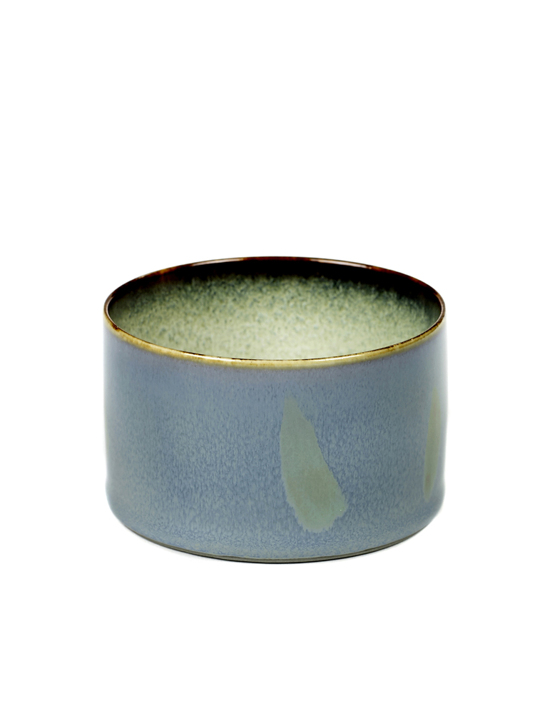 Goblet Cylinder Low D7,5 H5 Smokey Blue / Misty Grey