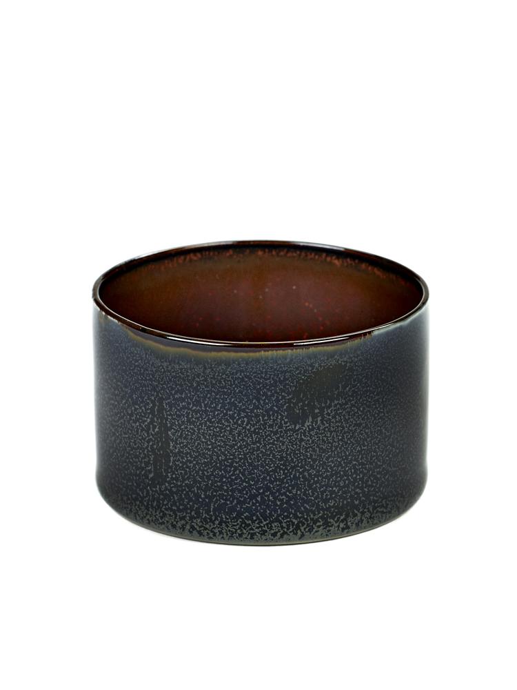 Goblet Cylinder Low D7,5 H5 Dark Blue/ Rust