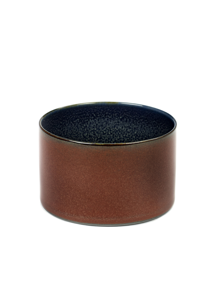 Goblet Cylinder Low D7,5 H5 Rust/ Dark Blue