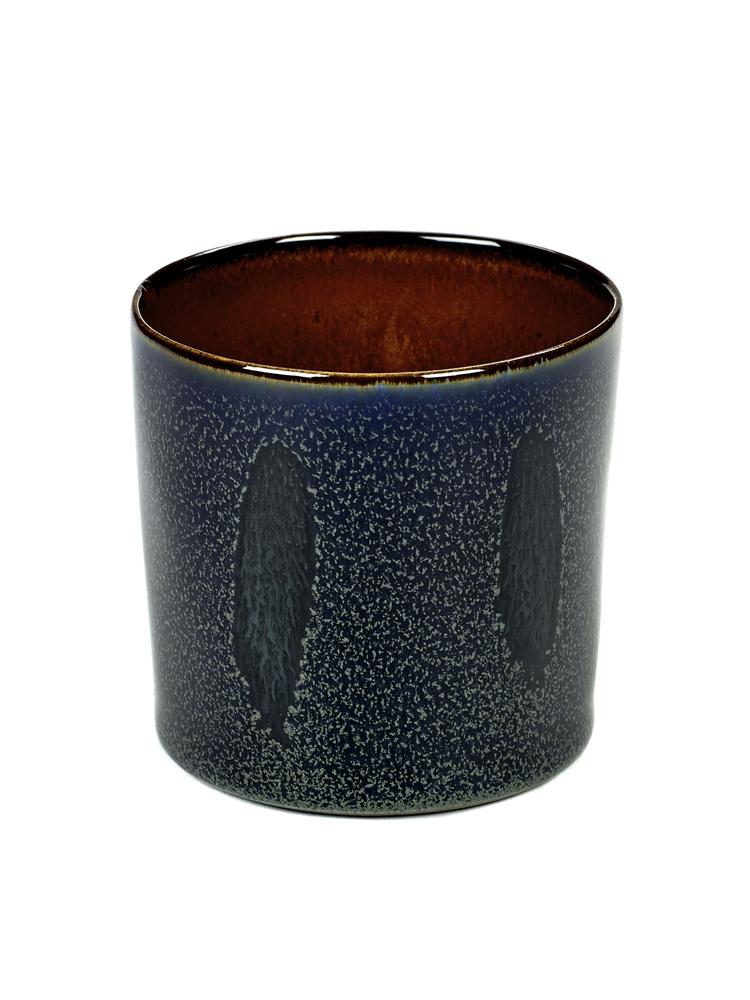 Goblet Cylinder High D7,5 H7,5 Dark Blue / Rust