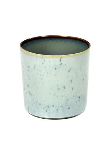 Goblet Cylinder High D7,5 H7,5 Light Blue / Smokey Blue