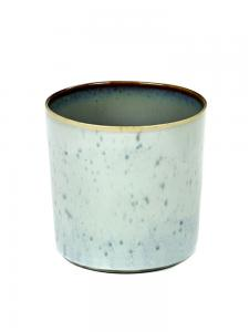 Goblet Cylinder High D7,5 H7,5 Light Blue / Smokey Blue