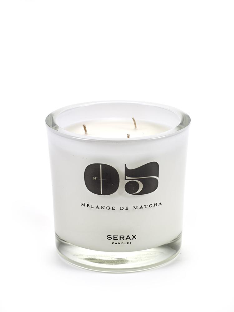 "Perfumed Candle D12 H12 ""05"" Melange De Matcha Round"
