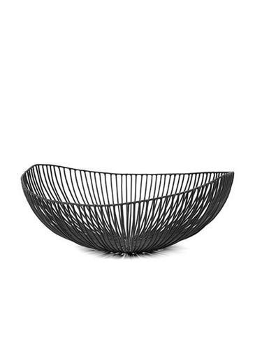 Plate Ovale Meo 37X33Xh14 Black