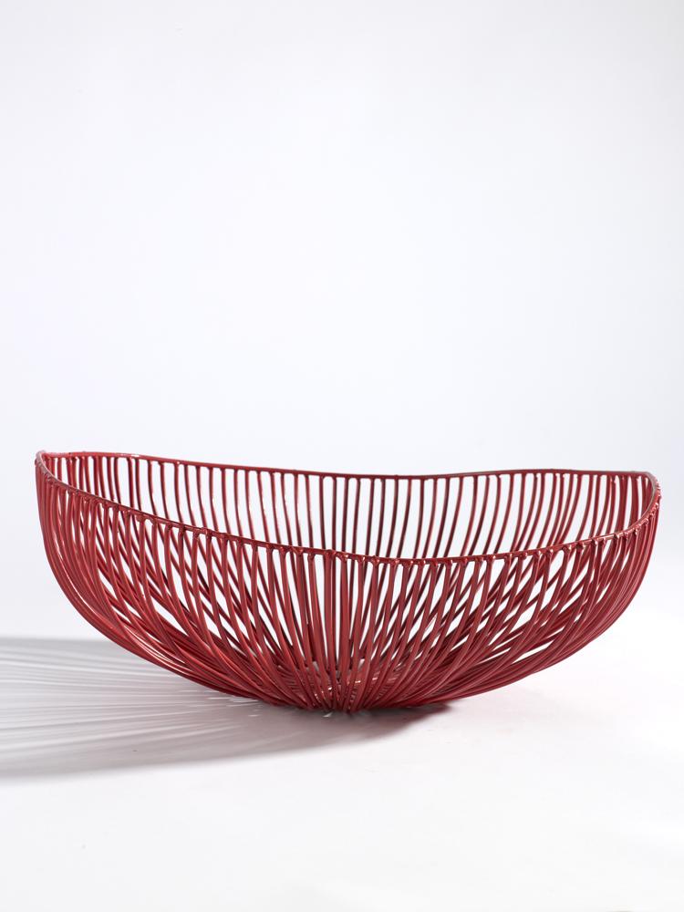 Korg för uppläggning 33 cm röd