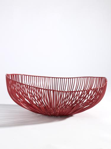 Wire Basket Meo  Ø33 H14 Cm Red