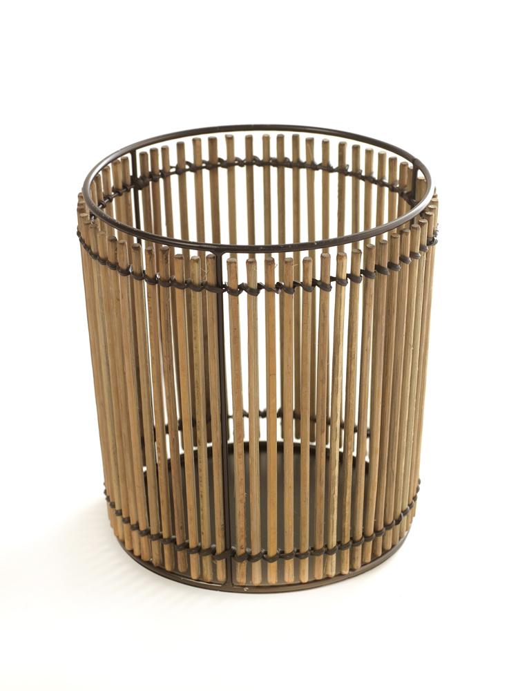 Bamboo Basket Round D18 H20