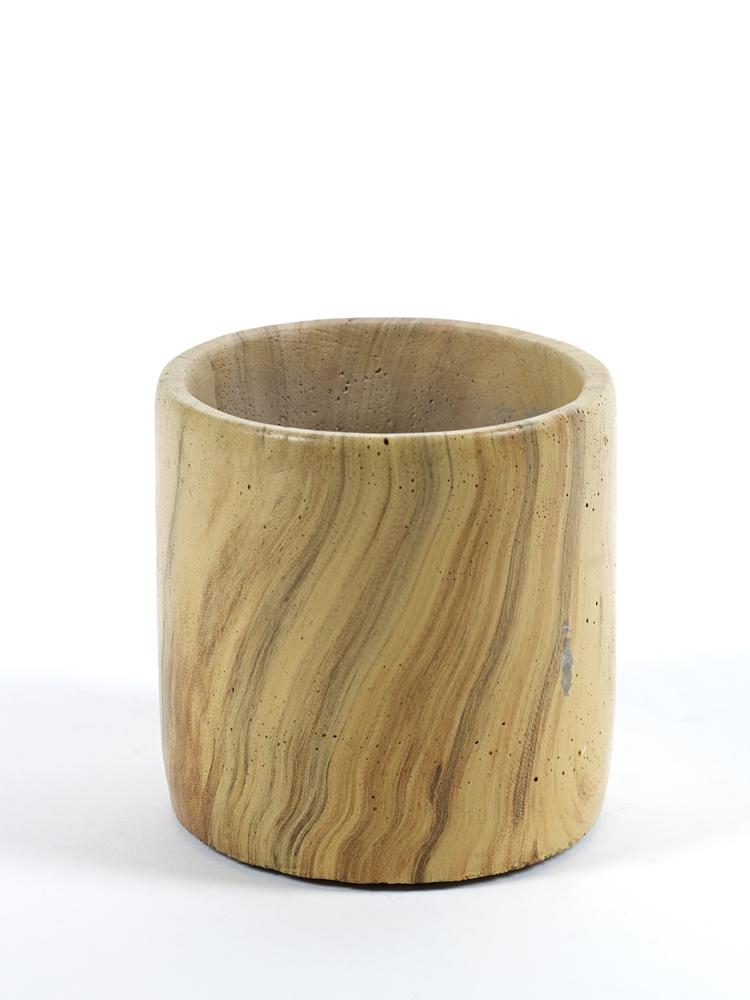 Cement Pot Woodlook Small D11 H11