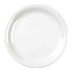 23cm narrow rim plate White