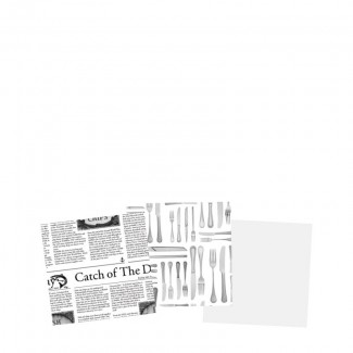 "Cutlery Greaseproof Paper 6"" (15cm)1"