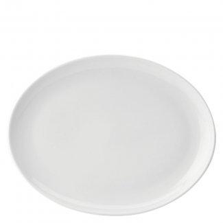 Oval tallrik 36 cm vit