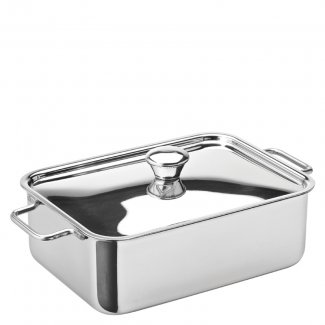 "Stainless Steel Rectangular Roasting Dish 6x 4.5"" (15 x 11cm) 24.75oz (70cl)6"
