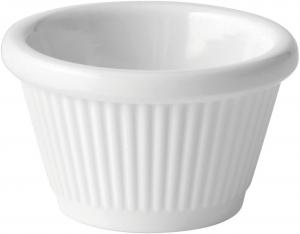 Fluted White Ramekin 1oz (3cl)12