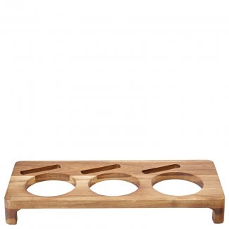 """Acacia Presentation Stand to hold 3 Serving Dishes 16.5 x 7"""" (42 x 18cm)6"""