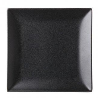 """Noir Square  Black Plate 7"""" (18cm)12"""