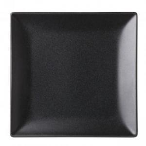 Fyrkantig tallrik 18 cm svart