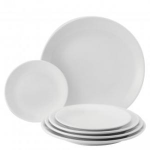 Assiette flat 18 cm vit