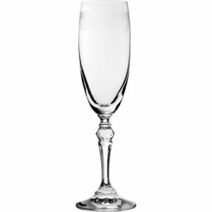 Champagneglas med mönster 17cl