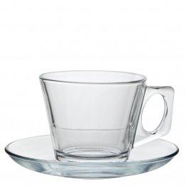 Kaffekopp i glas 20 cl