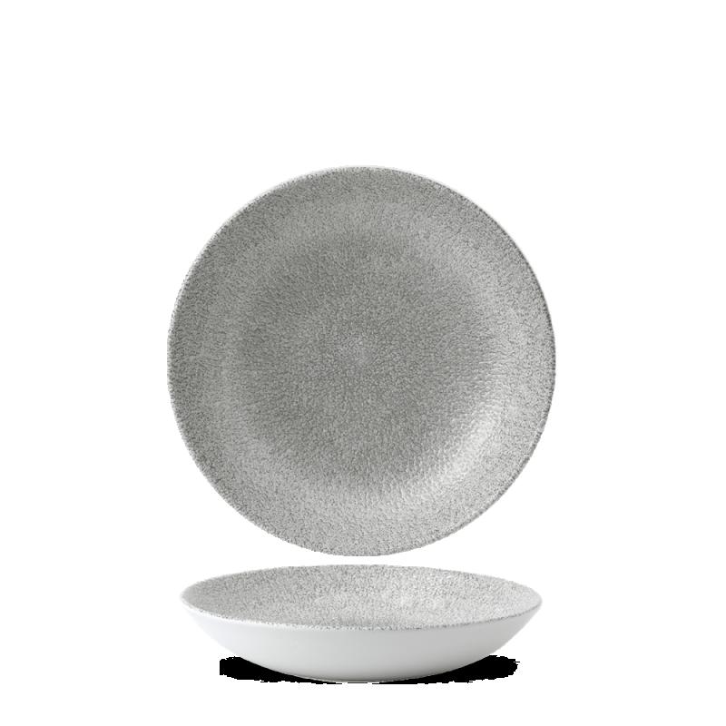 Djup tallrik grå 18,2cm