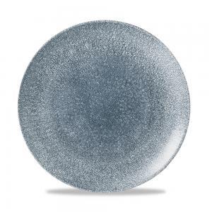 "Raku Topaz Blue Evolve Coupe Plate 10.25"" Box 12"
