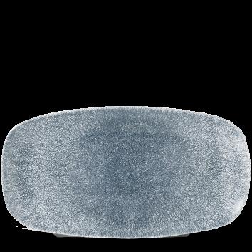 """Raku Topaz Blue  Chefs Oblong Plate 13 7/8X7 3/8"""" Box 6"""