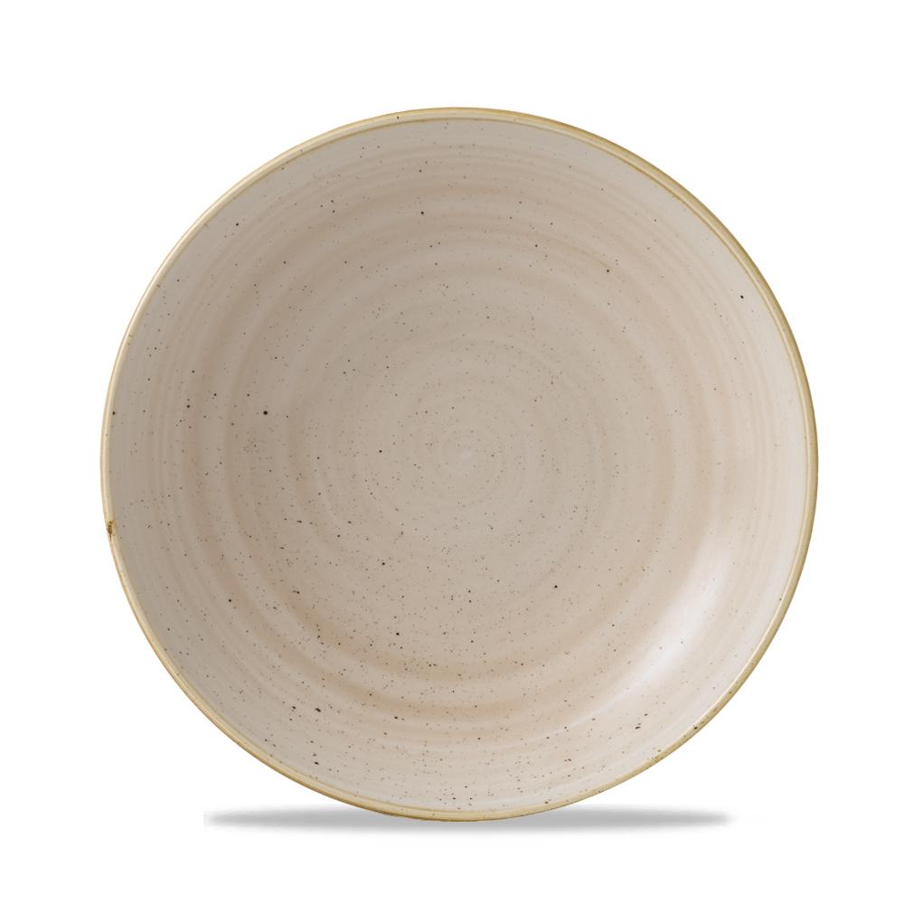 "Stonecast Nutmeg Cream Evolve Coupe Bowl 9.75"" Box 12"