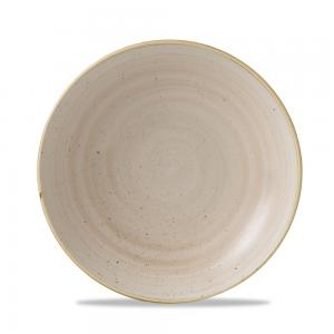 Stonecast Nutmeg Cream Evolve Coupe Bowl 9.75""