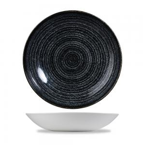 Studio Prints Charcoal Black Evolve Coupe Bowl