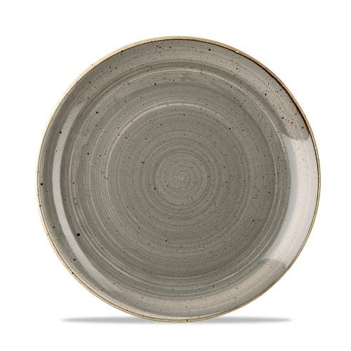 Stonecast Grey Evolve Coupe Plate 8.67""