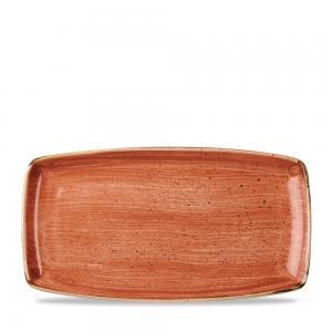 "Stonecast Orange  Oblong Plate 13 1/2"" Box 6"