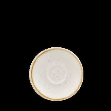 """Stonecast Barley White  Espresso Saucer 4.5"""" Box 12"""