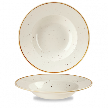 "Stonecast Barley White Profile Wide Rim Bowl Large 10.90"" Box 12"